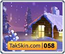 قالب دو ستونه کلبه زمستانی – قالب شماره ۵۸
