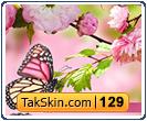 قالب وبلاگ سه ستونه گل و طبیعت – قالب شماره ۱۲۹