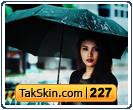 قالب وبلاگ دو ستونه دخترانه بارانی – قالب شماره ۲۲۷