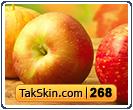 قالب وبلاگ سه ستونه پاییزی سیب – قالب شماره ۲۶۸