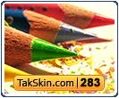 قالب وبلاگ سه ستونه مداد رنگی – قالب شماره ۲۸۳