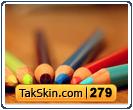 قالب وبلاگ دو ستونه مداد رنگی – قالب شماره ۲۷۹